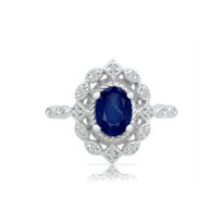 14k Sapphire&Diamond ring filigre