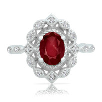 Ruby&Diamond  filigre ring
