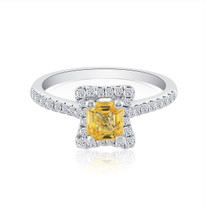 Yellowsaphire&diamond ring 18k