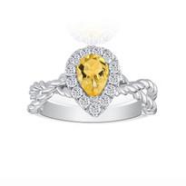 yellow sapphire ring 18k white