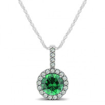 emerald circle pendent