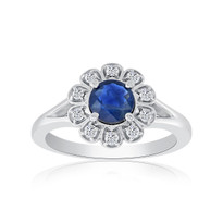 diamonds&sapphire ring