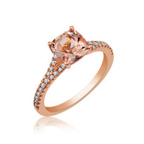 Morgenite and diamonds rose gold