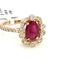 Ruby and Diamond ring 14k yellow