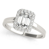 Halo Diamond Engagement Ring 14k Gold