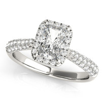 Multirow Engagement Diamond Ring 14k Gold
