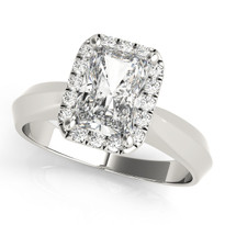 SOLITAIRES ANY SHA DIAMOND ENGAGEMENT RING 14K GOLD