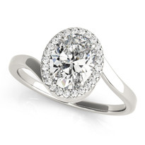 Split Engagement Ring  Diamond 14k Gold