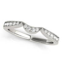 1/6 ct tw DIAMOND WEDDING BANDS CURVED BANDS