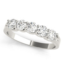 WEDDING BANDS PRONG SET DIAMOND RING