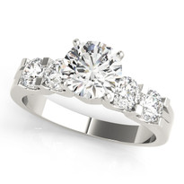 DIAMOND  SINGLE ROW PRONG SET ENGAGEMENT RINGS