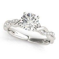 BRAIDED SHANK DIAMOND ENGAGEMENT RING