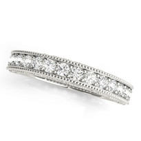 3/8 ct tw DIAMONDS WEDDING BANDS PRONG SET