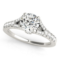 ENGAGEMENT DIAMOND RINGS SINGLE ROW PRONG SET