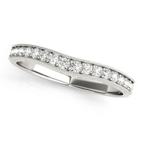 WEDDING BANDS PAVE 1/5 ct tw  DIAMOND RING