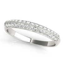 WEDDING BANDS PAVE 1/3 ct tw DIAMOND RING
