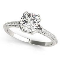 1 1/6 ct tw  DIAMOND MULTIROW ENGAGEMENT RINGS