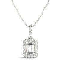 HALO DIAMOND PENDANT 14K GOLD