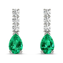 EARRINGS COLOR PEAR 1/8 ct tw DIAMOND 14K GOLD