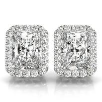 18 Numbers of Stone Diamond Halo 14k Gold