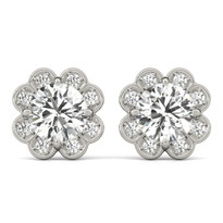 Diamond Earrings Fashion   14K Gold