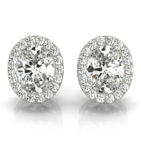 HALO 14k Gold Diamond Earrings