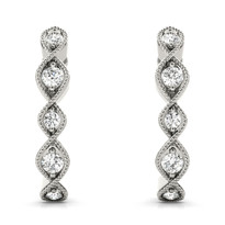 Lab Grown Diamond Fashion Earring 14k