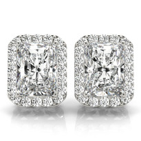HALO DIAMOND EARRINGS 14K GOLD