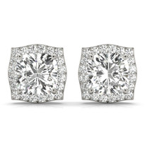 1 1/8 ct tw halo diamond earrings
