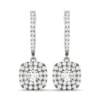 36 STONE HALO DIAMOND EARRINGS