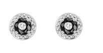 Tuxedo Earrings with black and white diamonds (1.00ct)