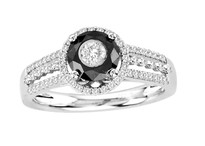 Tuxedo Ring with Black Diamond (1.00ct)