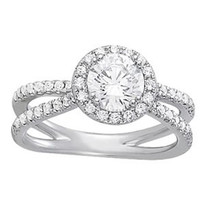 2.00ct t.w apx. Diamond Engagement ring in 14k White Gold