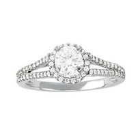 1.50ct t.w. Diamond Engagement Ring in 14k White Gold