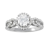 14k White Gold Diamond Engagement Ring (1.82ct t.w)