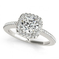 14k White Gold Diamond Engagement Ring (.71ct t.w)