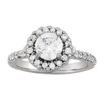 14k White Gold Solitaire Diamond Engagement Ring (1.52ct t.w)