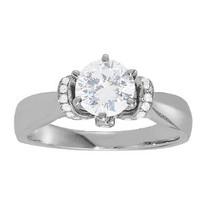 14k White Gold Diamond Engagement Solitaire Ring (.69ct t.w)