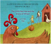 The Little Red Hen and The Grains of Wheat (Croatian-English)