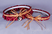 Florida State University Seminoles Wedding Garter Set