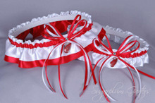 Detroit Red Wings Classic Wedding Garter Set
