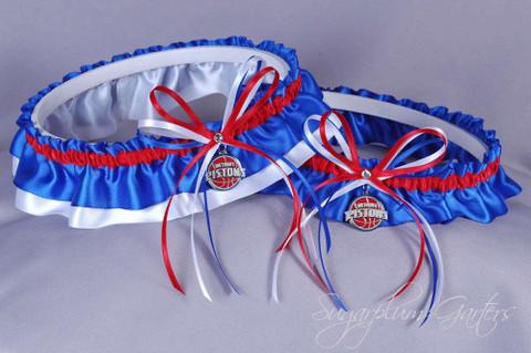 Detroit Pistons Wedding Garter Set