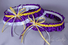 Louisiana State University Tigers Classic Wedding Garter Set