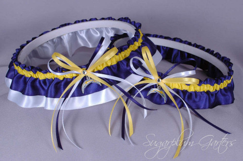 Los Angeles Chargers Classic Wedding Garter Set