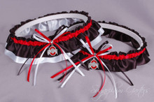 Ohio State University Buckeyes Classic Wedding Garter Set