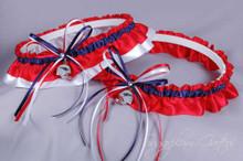 New England Patriots Classic Wedding Garter Set