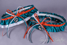 Miami Dolphins Classic Wedding Garter Set
