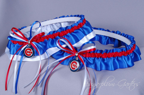 Chicago Cubs Wedding Garter Set
