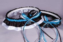 Carolina Panthers Wedding Garter Set