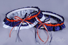 Denver Broncos Classic Wedding Garter Set